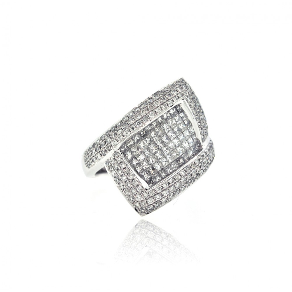 women diamond rectangle white and s rings ring cluster gold