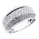 1.13 MICRO PAVE DIAMOND ENGAGEMENT RING SET IN 14 K WHITE GOLD