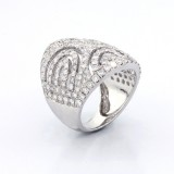 Fancycocktail Ring total3.28cts set in 14k white gold