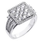 1.80 Cts Diamond Engagement Ring set in 18K white gold