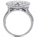 2.07 Cts Diamond Cocktail Ring Set in 18K White Gold
