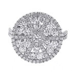 2.20 Cts Round Diamond Engagement Ring set in 18K white gold