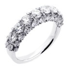 3.43 Cts Round Cut Diamond Wedding Band set in 18K white gold