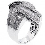 Fancy Ring total 3.92 cts set in 14k white gold