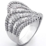 Fancy Ring total 4.73cts set in 18k white gold