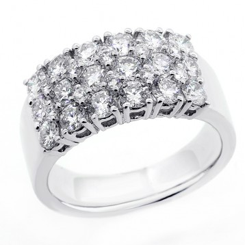 2.06CTS DIAMOND COCKTAIL RINGSET IN 18K WHITE GOLD