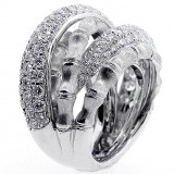 Fancy Ring total 2.82 cts set in 18k white gold