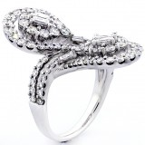 Fancy Ring total 3.01 cts set in 18k white gold