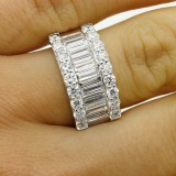2.60 CTS DIAMOND COCKTAIL RING SET IN 18K WHITE GOLD