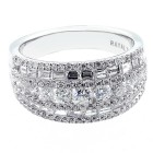 1.72 CTS DIAMOND COCKTAIL RING SET IN 18K WHITE GOLD