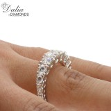 2.25 Cts Round Cut Diamond Engagement Ring set in 18K White Gold