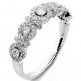 0.57 Ct. Diamond Halo Ring Set in 18K White Gold