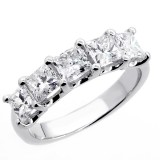 2.09 Princess Cut Diamond Wedding Band set in 14K white gold
