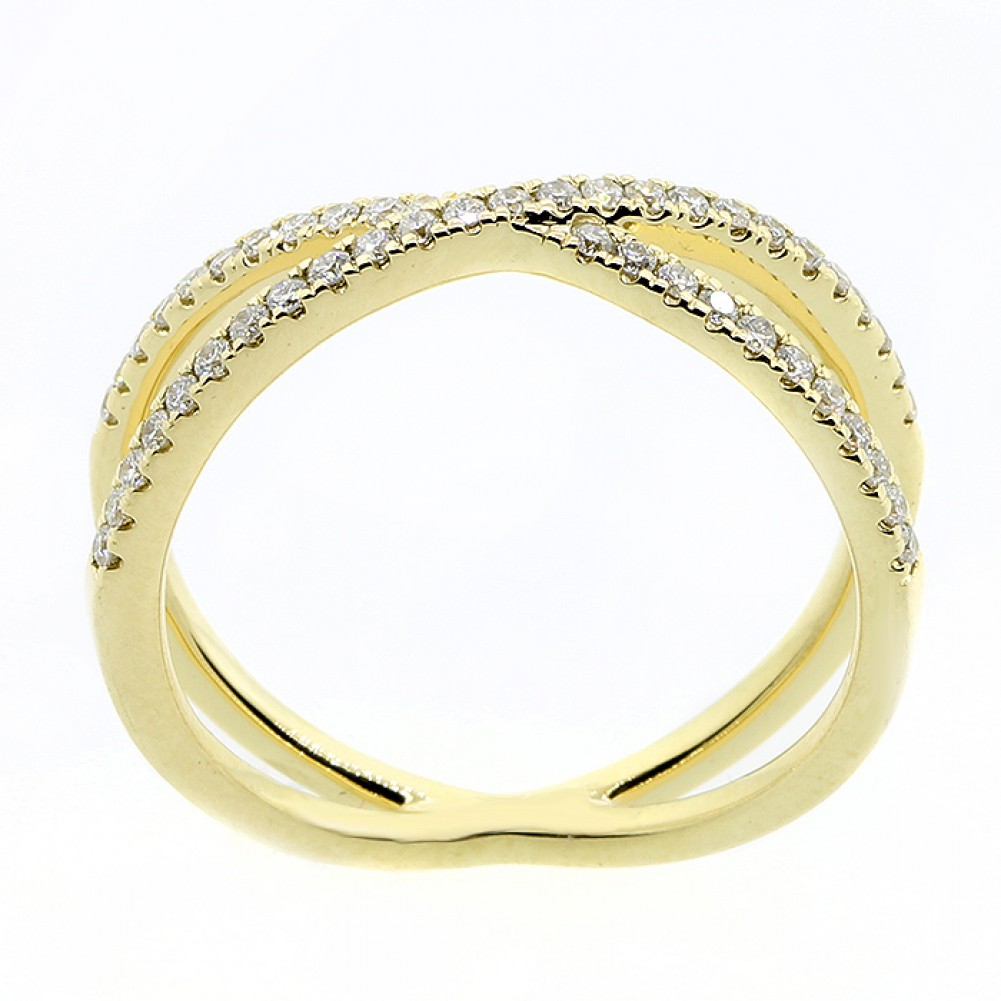 028 CTS ROUND CUT DIAMOND FANCY RING SET IN 14K YELLOW GOLDCheap