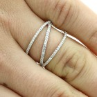 0.34 CTS DIAMOND FANCY RING SET IN 14K WHITE GOLD