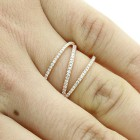 0.34 CTS DIAMOND FANCY RING SET IN 14K ROSE GOLD