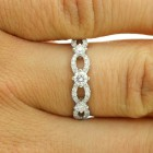 0.47 Cts Round Cut Diamond Wedding Band set in 18K White Gold