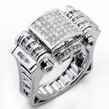 1.60 Cts Diamond Mens ring set in 14K white gold