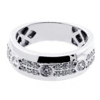 0.73 Cts Diamond mens Ring set in 14K White Gold