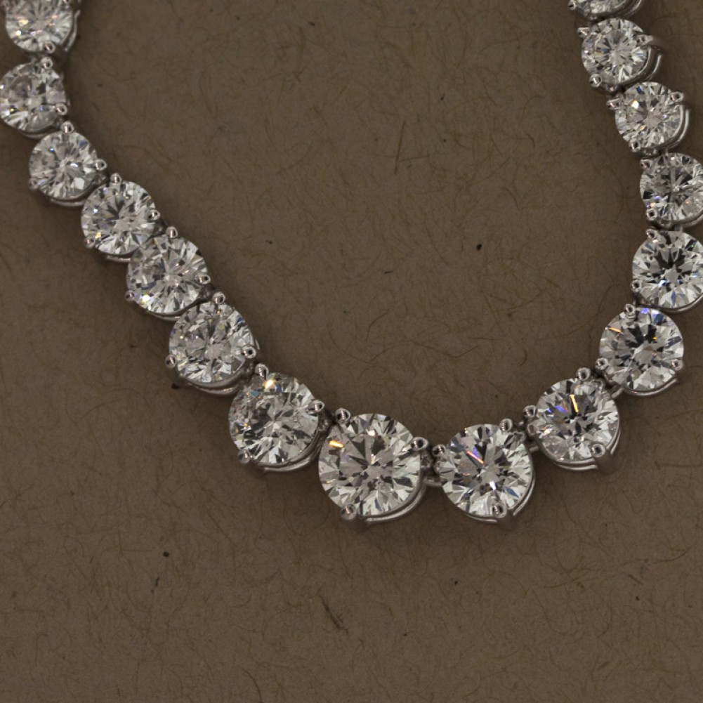 1851cts tw graduated diamond tennis necklacecheap diamond 1851cts tw graduated diamond tennis necklace aloadofball Image collections