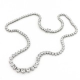 18.51Cts TW Graduated Diamond Tennis Necklace