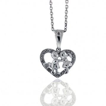 0.10 Cts. Diamond Heart Pendant