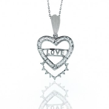 0.42 Love Diamond Heart Pendant
