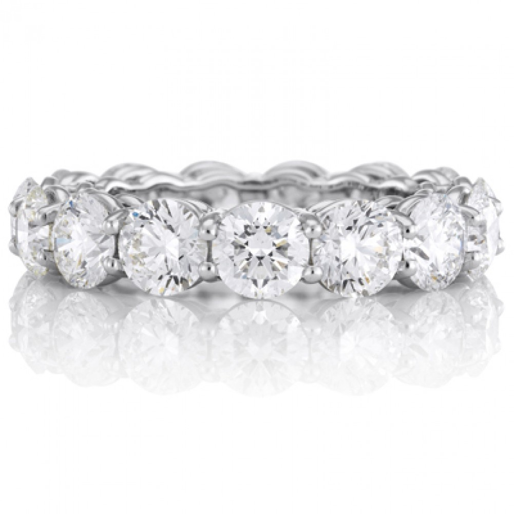 gold round band prong diamond set item bands eternity white
