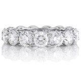 4.06Ct Round Diamond Basket Set Eternity Ring