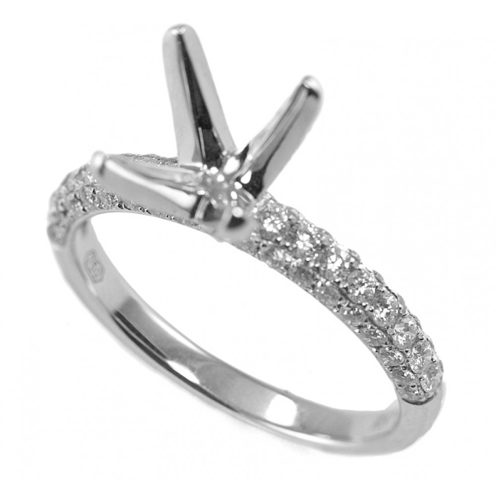 diamond solitaire side four ring platinum brilliant prong natasha band engagement view rings gold round sherling classic twist