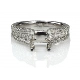 0.97 Ct Individual Prong Diamond Engagement Ring Setting