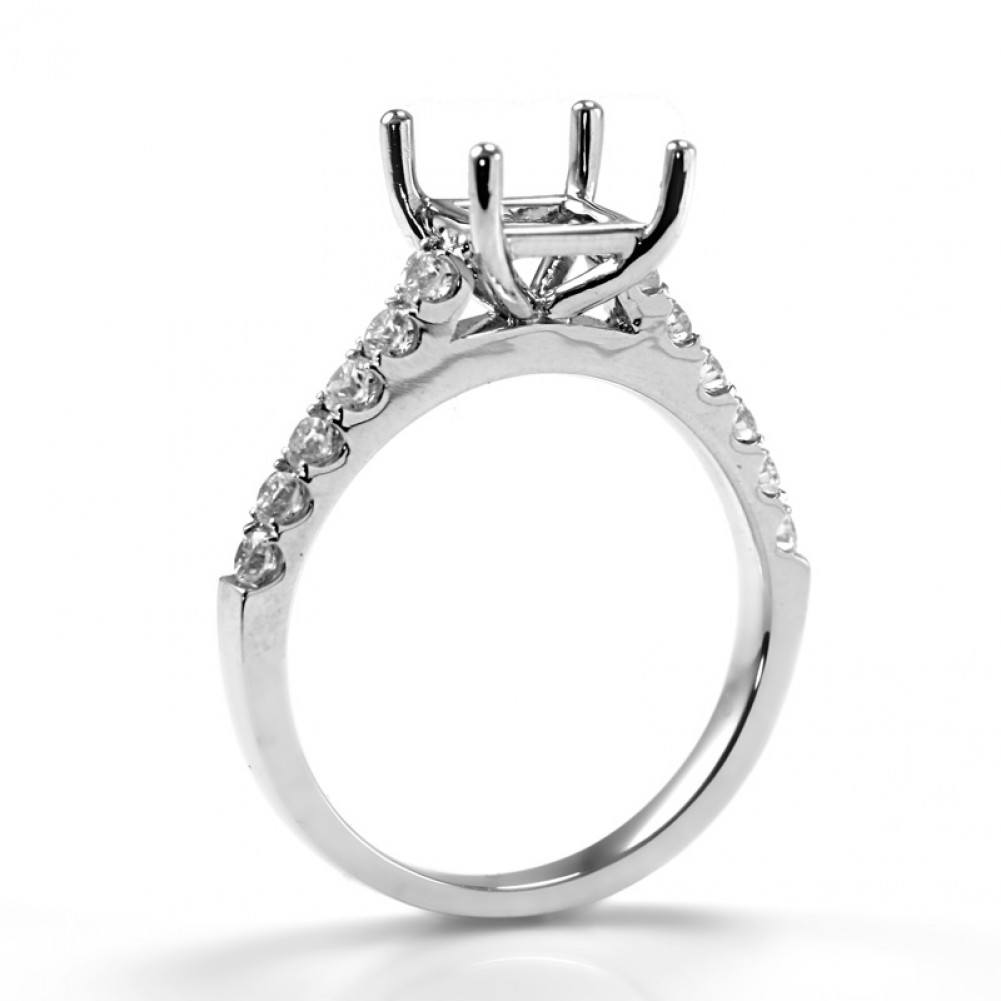 cut ring princess solitaire engagement whiteview cathedral rings