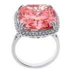 18.92ctw Fancy Cushion Cut Diamond Halo Ring 18K White Gold