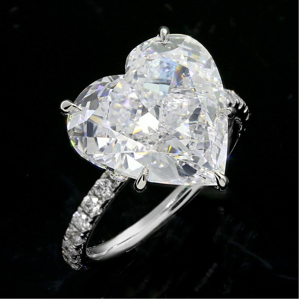 736cttw Heart Shaped DIamond Engagement Ring 18K White goldCheap