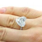 7.36cttw Heart Shaped DIamond Engagement Ring 18K White gold.
