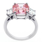 5.68ctw Asscher/Trillion Cut Diamond Ring PLATINUM