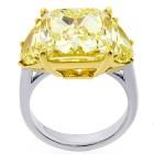 12.39ctw Fancy Cushion/Halfmoon Cut Diamond PLATINUM Ring