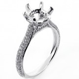 0.52 Cts Six Prong Diamond Engagement Ring Setting set in 18K Whoite Gold