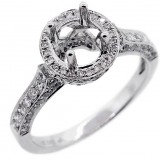 Halo Engagment Ring Setting with total of.79 cts,14KT