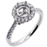 Halo Engagment Ring Setting with total of1.30 cts,18KT