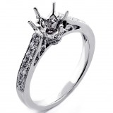 0.46 Six Prong Diamond engagement Ring Setting set in 18K White Gold