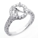 1.16 Cts Diamond Setting Engagement Ring set in 18K white gold