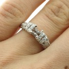 1.00 Ctw Round Cut Micro Pave Diamond Ring Setting in 14K White Gold