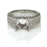 1.84 Cts. Full Cut Round Shape Diamond Engagement Ring