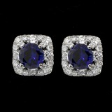 Gem Diamond studs set in 18K WHITE GOLD