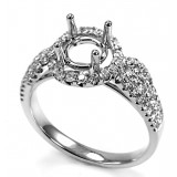 Intertwined Micropavé Diamond Engagement Ring