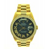 Rolex Day-Date President 18K Yellow Gold Diamond Bezel 36mm Automatic Watch