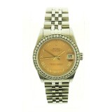 Rolex Datejust Stainless Steel Diamond Bezel Salmon Dial 31mm Automatic Watch
