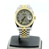 ROLEX Datejust Two-Tone 18K Yellow Gold Fluted 36mm Automatic Watch