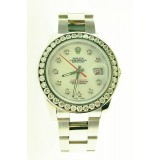 Rolex Turn-O-Graph Datejust Diamond bezel White Dial 36mm Watch
